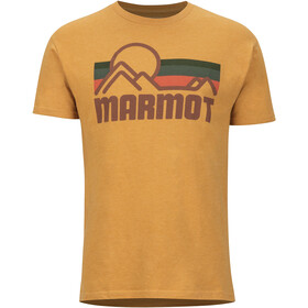 Marmot Coastal Camiseta Manga Corta Hombre, new aztec gold heather